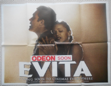Evita, Original UK Quad TEASER Poster, Madonna as Eva Peron!, '96
